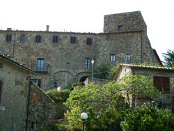 Middle ages castle and keep at Tatti, Massa Marittima Maremma Italy