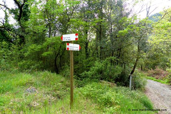 Castelluccio di Cornia footpath