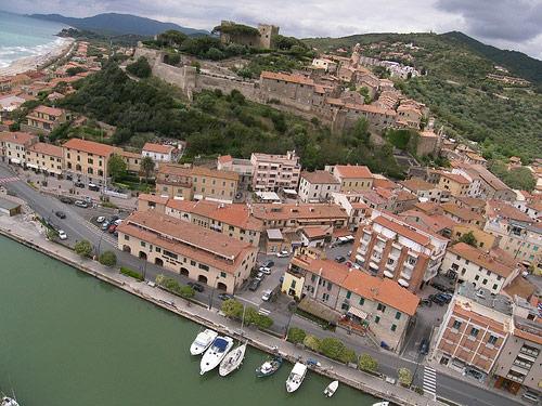 Castiglione della Pescaia viewed from the south-east