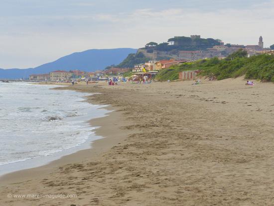 Castiglione della Pescaia beach in October Maremma Tuscany