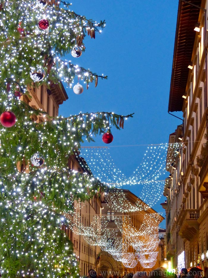 Italian Christmas lights in Florence Tuscany