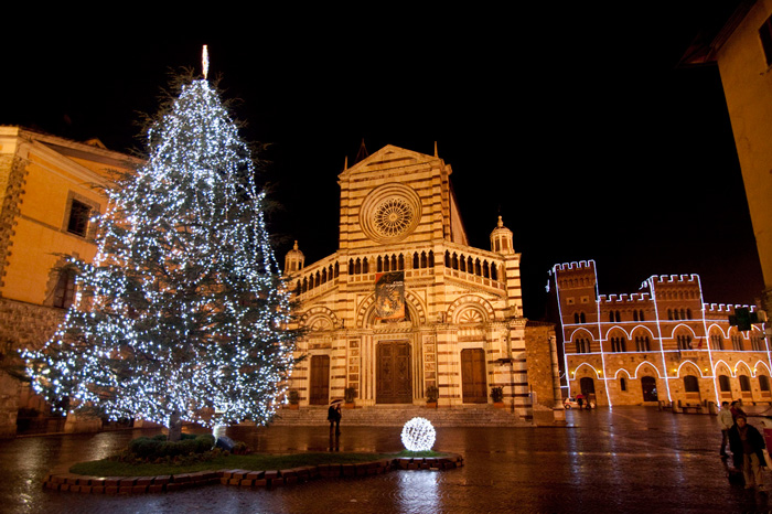 New Year's Eve in Tuscany: Grosseto cathedral.