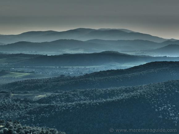 The colline metallifere in Maremma Tuscany