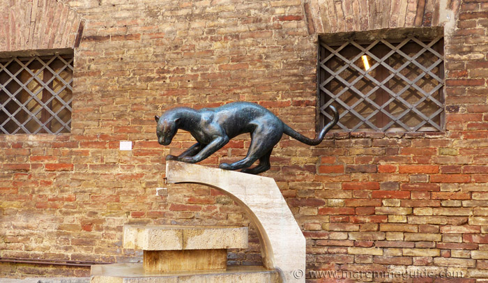 The black panther in Siena of the Contrada della Pantera.