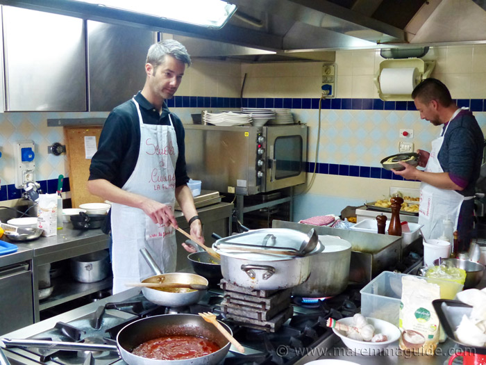 Tuscany Italy cooking school.