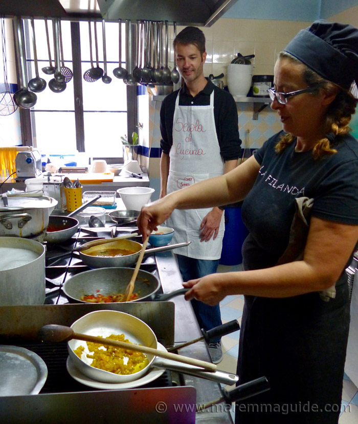 Cooking class in Tuscany Italy
