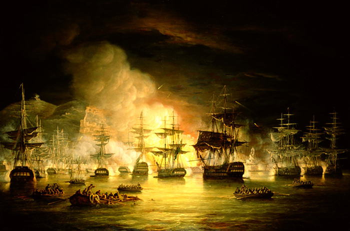Corsair pirate ship attack in the Mediterranean, 16th century.