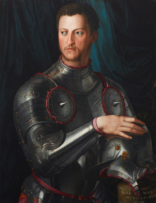 Cosimo I de Medici in armour painting by Agriolo Bronzino.