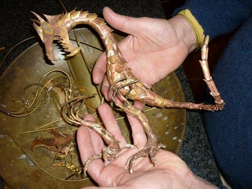 Dragon metal art: handmade Italian metal art from Maremma