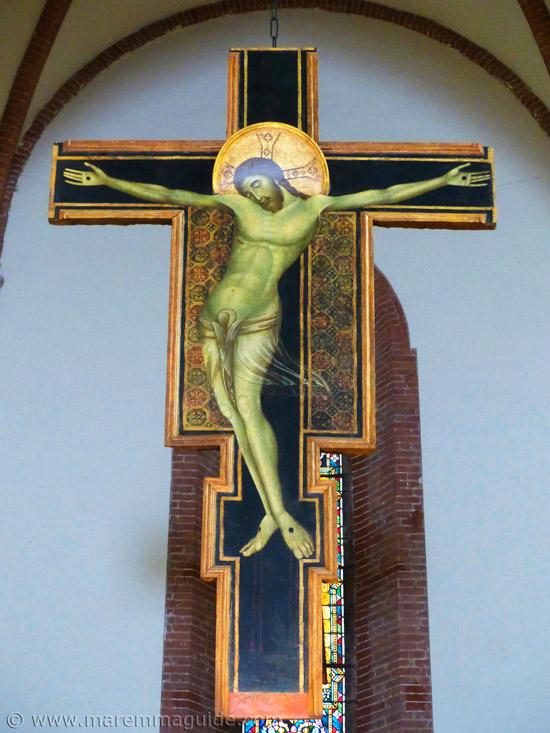 Duccio di Buoninsegna crucifix in Grosseto Tuscany Italy.