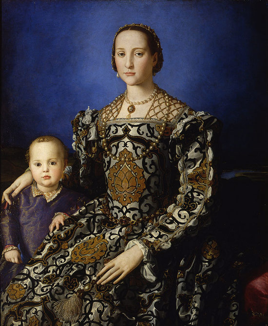 Eleonora di Toledo - Cosimo I de'Medici's wife - and son.