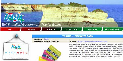 Italian Tourist Board website