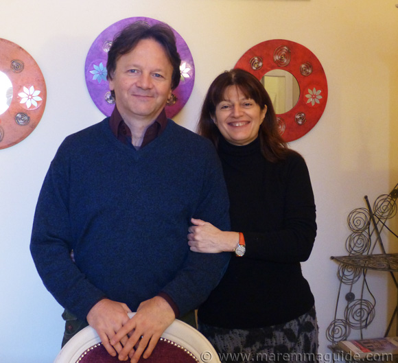 Estate agents in Tuscany: Rita Renzi and Riccardo Giuntini