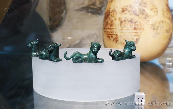 Etruscan bronze lions