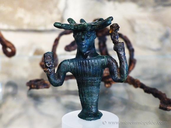 Etruscan figural sculptures