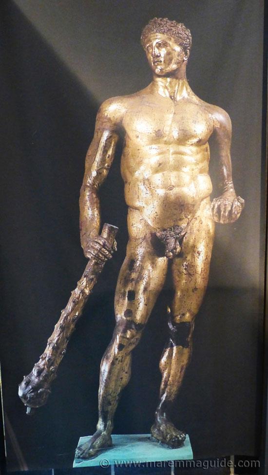 Poster of an Etruscan bronze Hercules statue