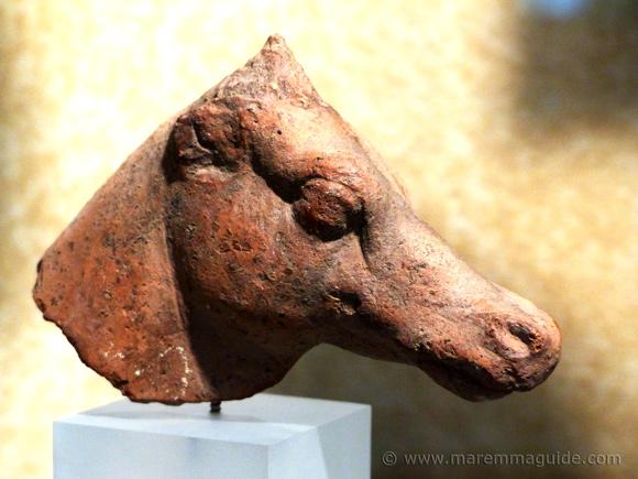 Etruscan horse sculpture
