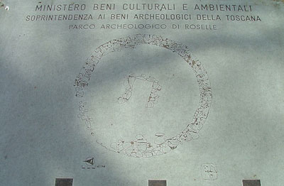 Etruscan necropoli diagram at Roselle