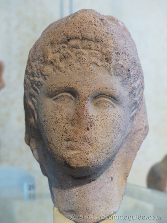 Etruscan pottery face
