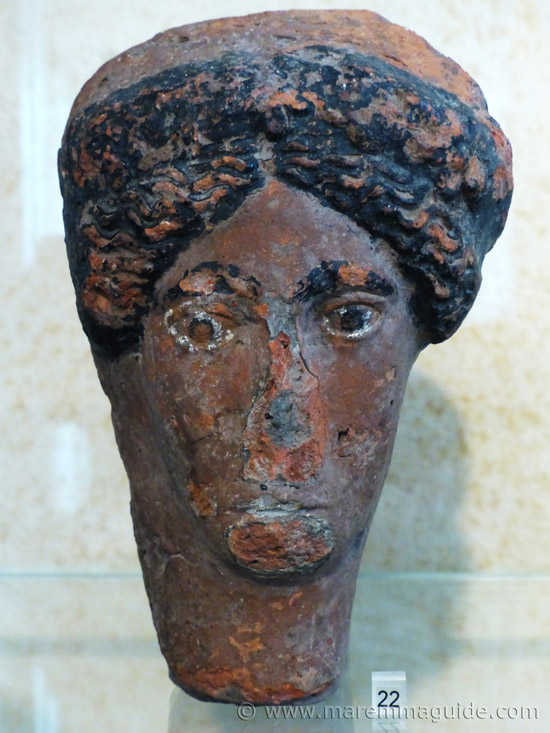 Etruscan terracotta head