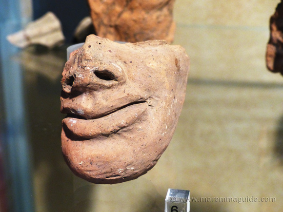 Etruscan terracotta head