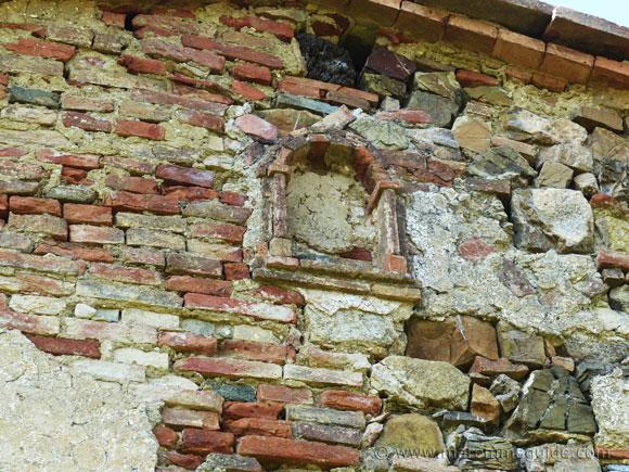Old farmhouse wall detail.