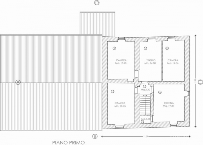 Farm for sale in Tuscany: first floor plan