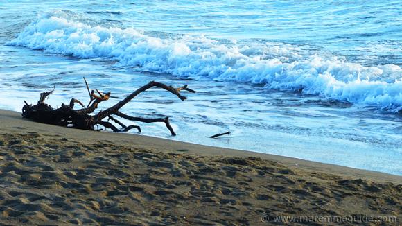 Grosseto beach La Fiumara at dusk