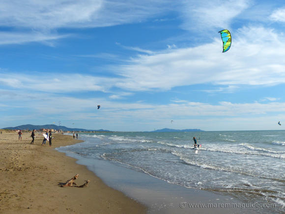 Fiumara Kite Beach Grosseto Tuscany in October