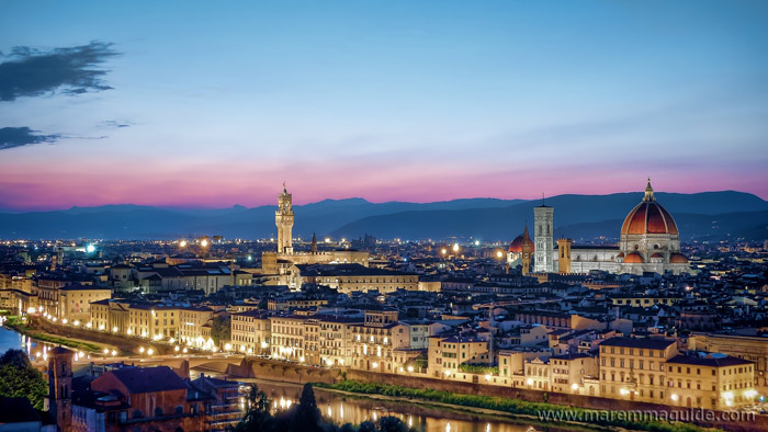 Florence Italy at night.