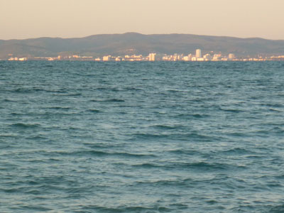 View of Follonica from Cala Barbiere, Punta Ala Maremma Tuscany Italy