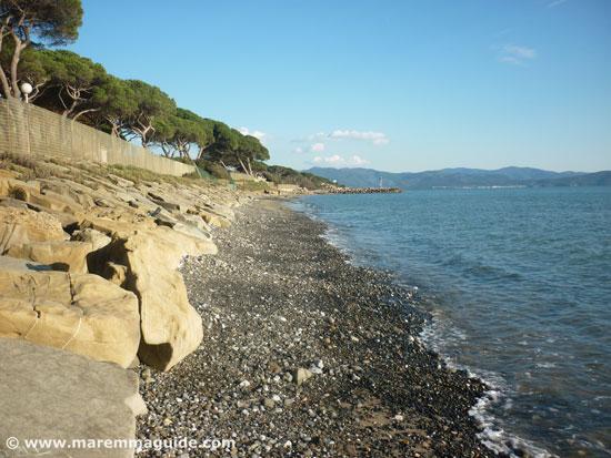 Follonica beaches: Ponente beach