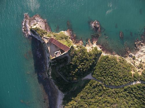 Aerial view of Forte delle Rocchette