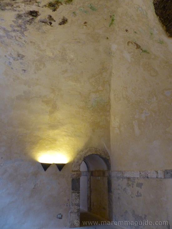 Room inside Forte Stella Porto Ercole.