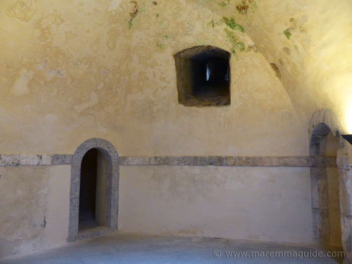 Room inside the inner fortress of Forte Stella in Porto Ercole.