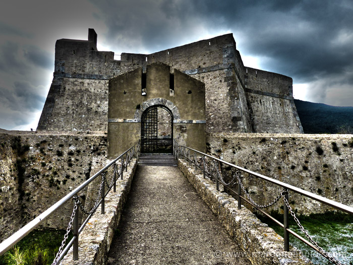 Forte Stella the Spanish star-shaped fortress in Porto Ercole Maremma Tuscany Italy
