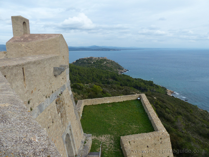 View of the Rocca Aldonbrandesca from Forte Stella