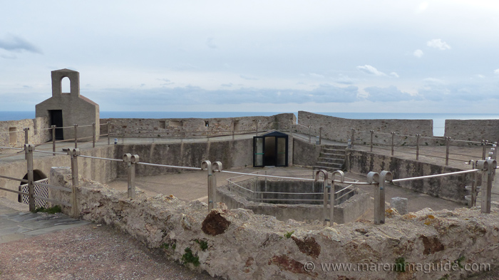 Forte Stella: on top of the Spanish star fortress.