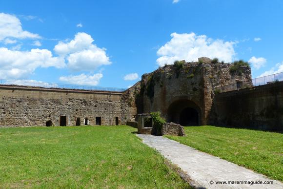 Fortezza Orsini bastion San Pietro Sorano Tuscany Maremma