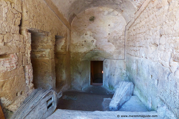 Under the Fortezza Orsini fort keep