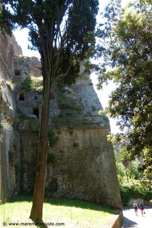 Orsini fortress Sorano in summer Maremma Tuscany