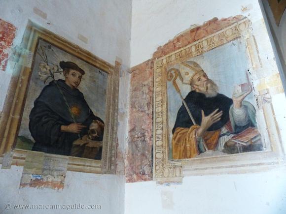 Baroque Italian painter Francesco Nasini frescoes.
