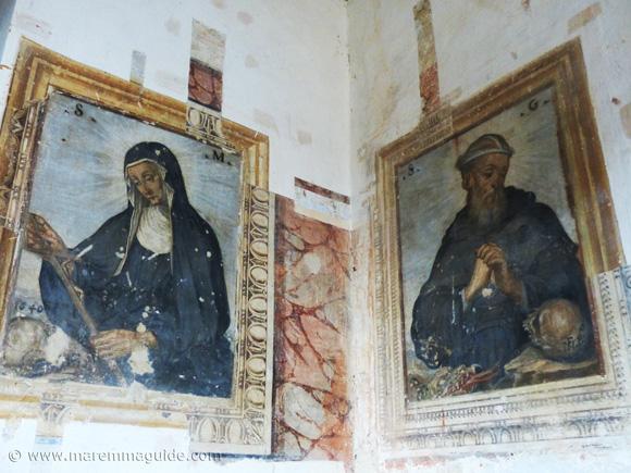 Francesco Nasini frescoes in Santa Fiora.