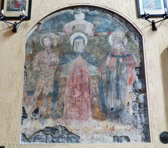 Francesco Nasini Madonna in cielo painting