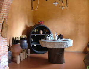 The olive oil tasting room within the Frantoio Stanghellini fattoria