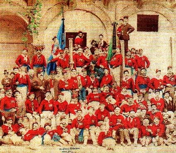 Garibaldi Red Shirts, Italy 1860
