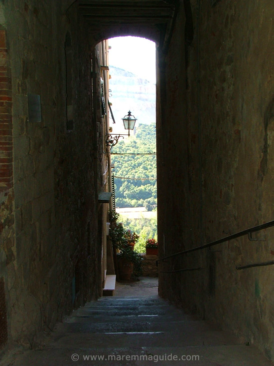 Gavorrano Tuscany medieval alleyway
