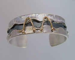 Gold and silver bracelets: Italian handmade silver bracelets