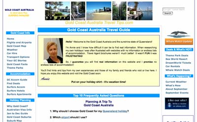 Holiday destination websites: The Gold Coast Australia Travel Tips Guide