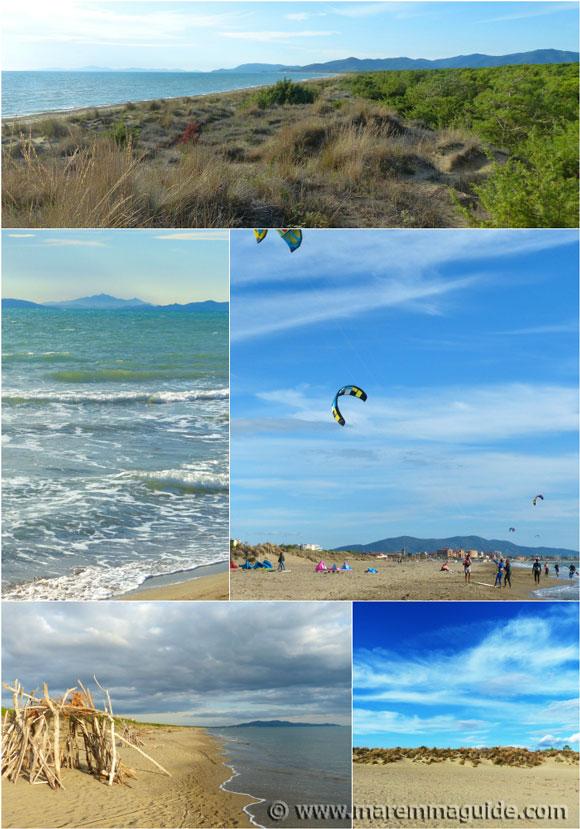 Grosseto beaches Tuscany Italy